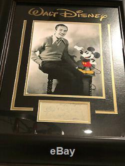 Rare Walt Disney Signature Et Inscribed Plein Jsa Loa Autograph Disneyland Bas Psa