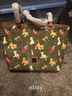 Rares T.n.-o. Disney Dooney & Bourke The Lion King Tote Simba Nala Timon Pumbaa