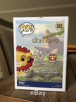 Rob Minkoff Signé Et Esquissé Simba Funko Pop Disney Roi Lion Psa Dna Cert