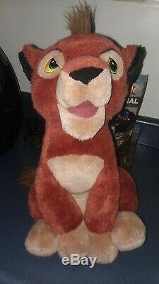 Royaume-uni Exclusif Sitting Kovu Roi Lion En Peluche Disney En Peluche Htf Rare Vhtf