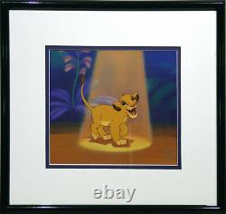 S/o Disney Sericel Simba'spotlight Cel En The Lion King Animation Art