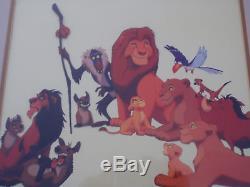 Set De 2 Roi Lion Encadré Disney Sericel Du Roi Lion 19 X 29