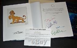Signé 4x, Limited # 'd Edtn, Slipcase & Sericel, L'art Du Lion King'94 Disney