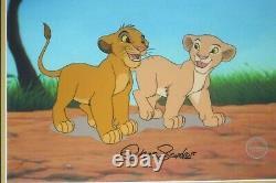 Simba Nala Playmates Lion King Disney Sericel Cel Signé Chris Sanders Nouveau Cadre