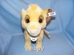 Steiff Disney Simba From The Lion King Limited Edition 355363 Brand New 2019