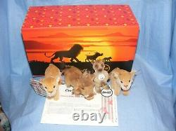 Steiff Roi Lion Coffret Cadeau Disney Edition Limitée Coffret Cadeau 354922 Nouveau