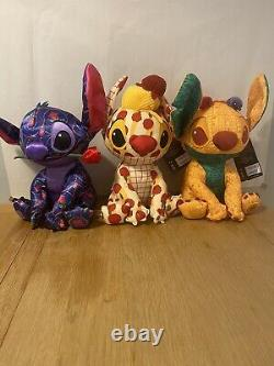 Stitch Crashes Disney Beauty And The Beast + Lady + The Lion King Peluche Bundle