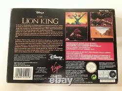 Super Nintendo Snes Le Roi Lion En Français-hol N. Mint Cib Complet Rare Snes