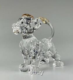 Swarovski Cristal Disney Simba Lion Roi Figurine Menthe En Boîte