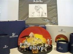 Swarovski Disney 2010 Lion King Series Complete 6 Piece Set + Lithographie Bnib