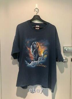 T-shirt Lion King Vintage Disney Single Stitch 90s Tee-shirt