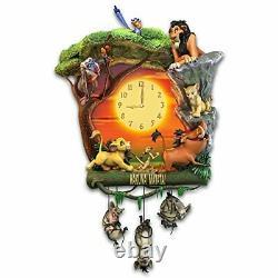 The Bradford Exchange Disney The Lion King Hakuna Matata Horloge Murale Avec Musique