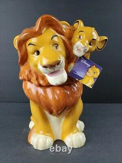 The Lion King Cookie Jar Simba Et Mufasa Westland Disney Film Ceramic Container