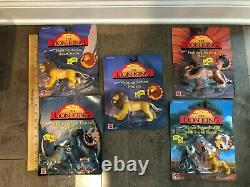 The Lion King Fighting Action Figures Lot Of 5 Disney Mattel Nip