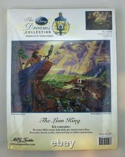 Thomas Kinkade Disney Dreams Cross Stitch Kit Le Roi De Lion #52506 16x 12 Htf