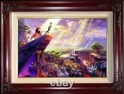 Thomas Kinkade Le Roi Lion 12x18 Artist Proof Framed Limited Disney Canvas