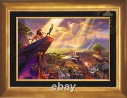 Thomas Kinkade The Lion King 18x27 Publisher Proof Framed Limited Disney Canvas