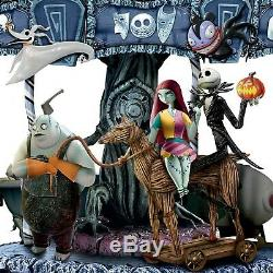 Tim Burton Disney Le Cauchemar Avant Le Carrousel Musical Illuminé