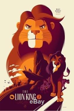 Tom Whalen Affiche Du Roi Lion Affiche D'art Pixar Disney Rare Artiste