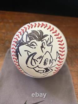 Tony Bancroft Signé Sketch Baseball Psa Adn Coa Disney Animateur Lion King