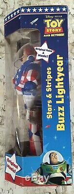 Toy Story Disney Pixar Stars & Stripes Buzz Lightyear Thinkway Toys 1995 Nouveau
