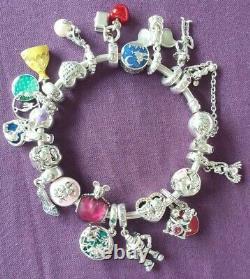 Véritable Charme Disney Le Roi Lion Pandora Bracelet Avec 21 Breloques