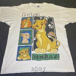 Vintage 1994 Disney Le Roi Lion Simba Nala Shirt XL Mufasa Toy Story Aladdin