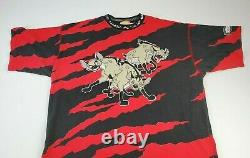 Vintage 1994 Disney The Lion King Film Hyenas Shirt Toy Story Aladdin Aop XL