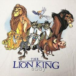 Vintage 1994 Disney The Lion King Movie Promo Shirt XL Simba Mufasa Scar Aladdin
