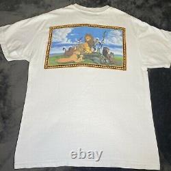 Vintage 1994 Disneys The Lion King Movie Promo Shirt L Simba Mufasa Scar Aladdin