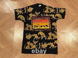 Vintage 90s Disney The Lion King All Over Print Movie T-shirt Homme XL
