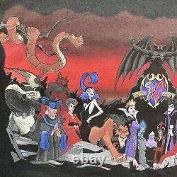 Vintage 90s Disney Villains T-shirt Hommes Grand Aladin Lion King Crochet Cruella