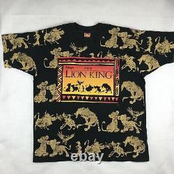 Vintage 90s The Lion King Walt Disney T-shirt XL Film Dessin Animé Hip Hop