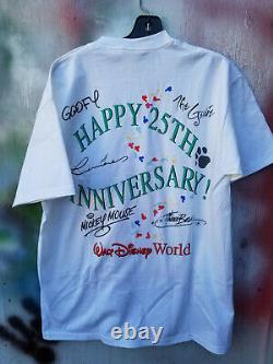 Vintage 90s Walt Disney World 25th Anniversary Lion King Mickey Genie Chemise