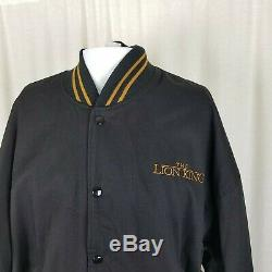 Vintage'94 Disney Le Roi Lion Patch Toile Bomber Letterman Jacket XL