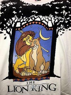 Vintage Années 90 Disney The Lion King Tee Grail Fits XL (osfa) Rap Tee Nirvana 2pac