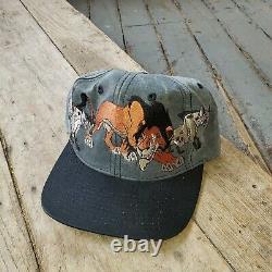 Vintage Années 90 Lion King Hat Snapback Blockhead Movie Promo Disney Genie Villains