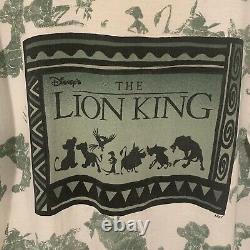 Vintage Disney 90s Lion King Rare All Over Imprimer Single Stitched Sz XL Vtg Htf