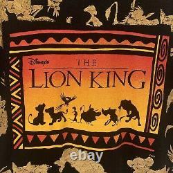 Vintage Disney 90s Lion King Rare Big Print Chemise Simple Pointillée Sz XL Vtg Htf