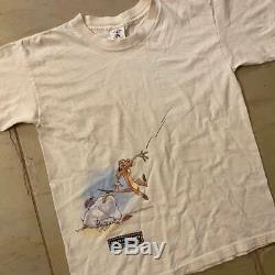 Vintage Disney All Over Imprimer Le Roi Lion Timon & Pumba Taille T-shirt 90 M Vtg