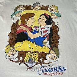 Vintage Disney Blanche-neige Et Les 7 Nains Chemise Aladdin Toy Story Lion King Vtg