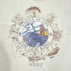 Vintage Disney Designs (1994) The Lion King Circle Of Life Film T-shirt XL