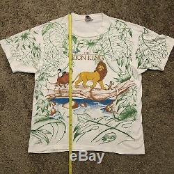 Vintage Disney Le Roi Lion All Over Imprimer T-shirt Osfa