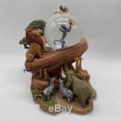 Vintage Disney Le Roi Lion Snow Globe Cercle De La Vie Présentation De Simba