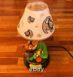 Vintage Disney Le Roi Lion Timon & Pumbaa Chant Danse Lampe Ultra Rare