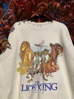 Vintage Disney Lion King Movie Promo Crewneck Sweatshirt Taille XXL