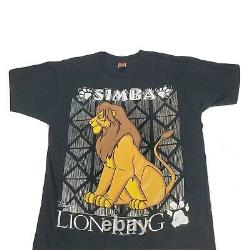 Vintage Disney Lion King Simba T-shirt 90s Taille XL Single Stitch Film Promo