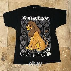 Vintage Disney Lion King Simba T-shirt 90s Taille XL Single Stitch Movie Promo