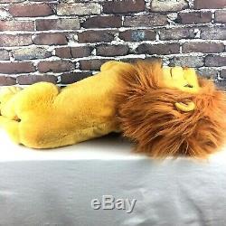 Vintage Disney Mattel Le Roi Lion En Peluche Grand Mufasa Jumbo Animal En Peluche 24