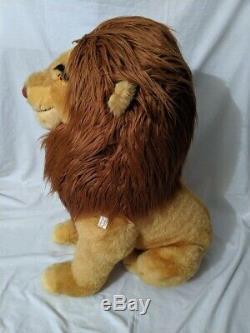 Vintage Disney Store 32 Jumbo Simba Grand Roi Lion En Peluche Balises Nouveau